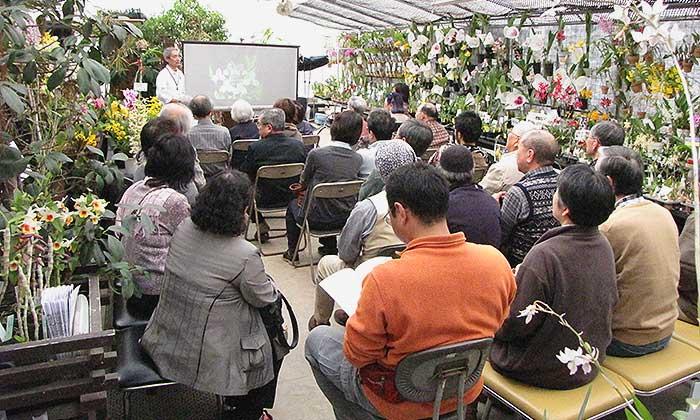 仙台洋ラン園にて、栽培講習会